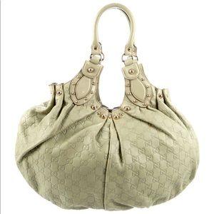 Gucci Signature Studded Pelham Shoulder Bag BNWT